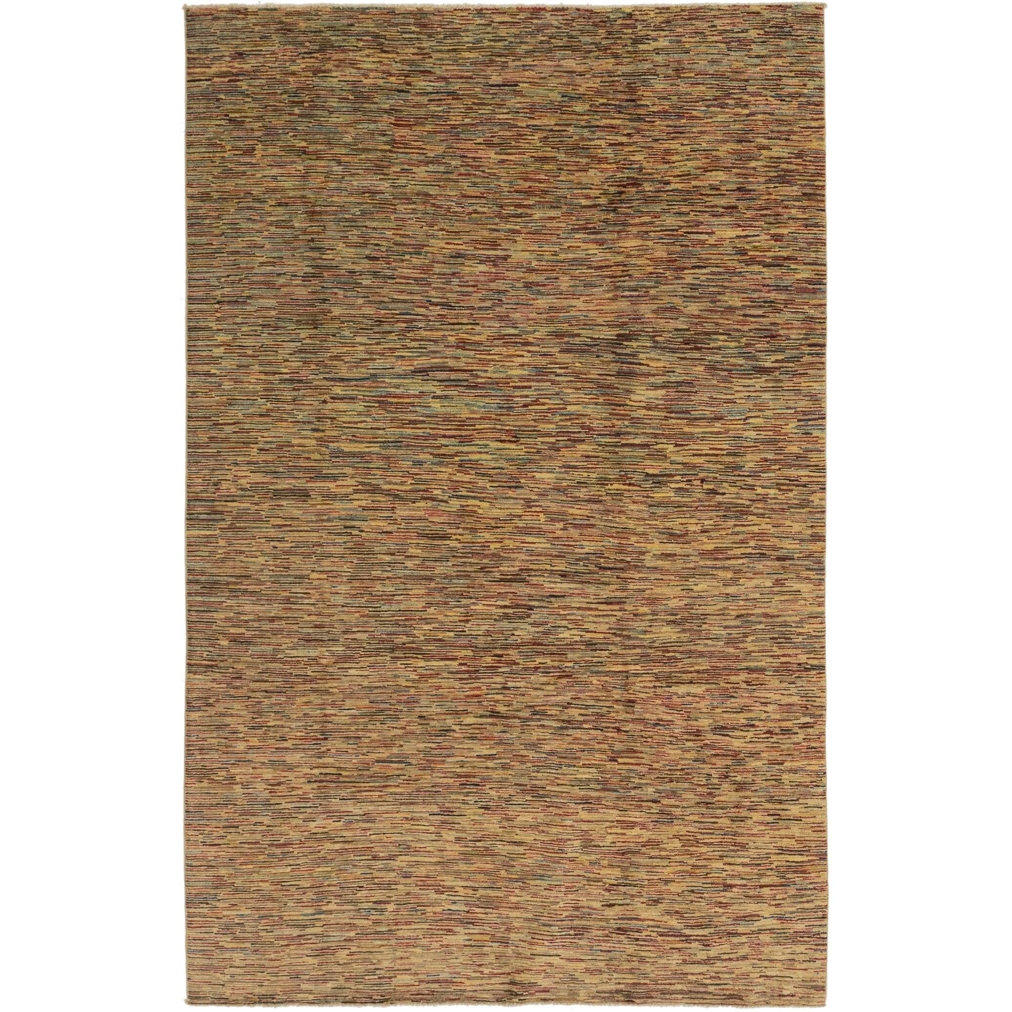 Hand Knotted Kashkuli Gabbeh Wool Area Rug - 6 x 9 4 (Multi - 6 x 9 4)