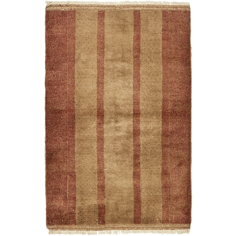 Hand Knotted Kashkuli Gabbeh Wool Area Rug - 3 5 x 5 3 (Brown - 3 5 x 5 3)