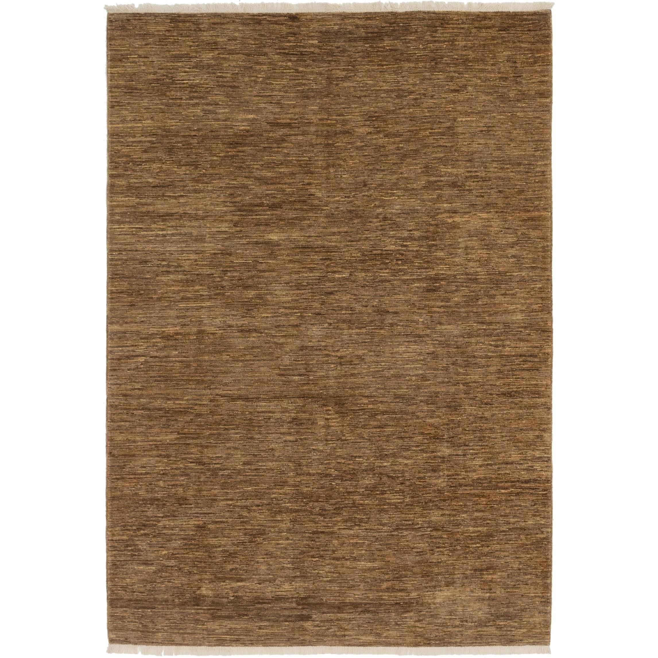 Hand Knotted Kashkuli Gabbeh Wool Area Rug - 6 8 x 9 8 (Light brown - 6 8 x 9 8)