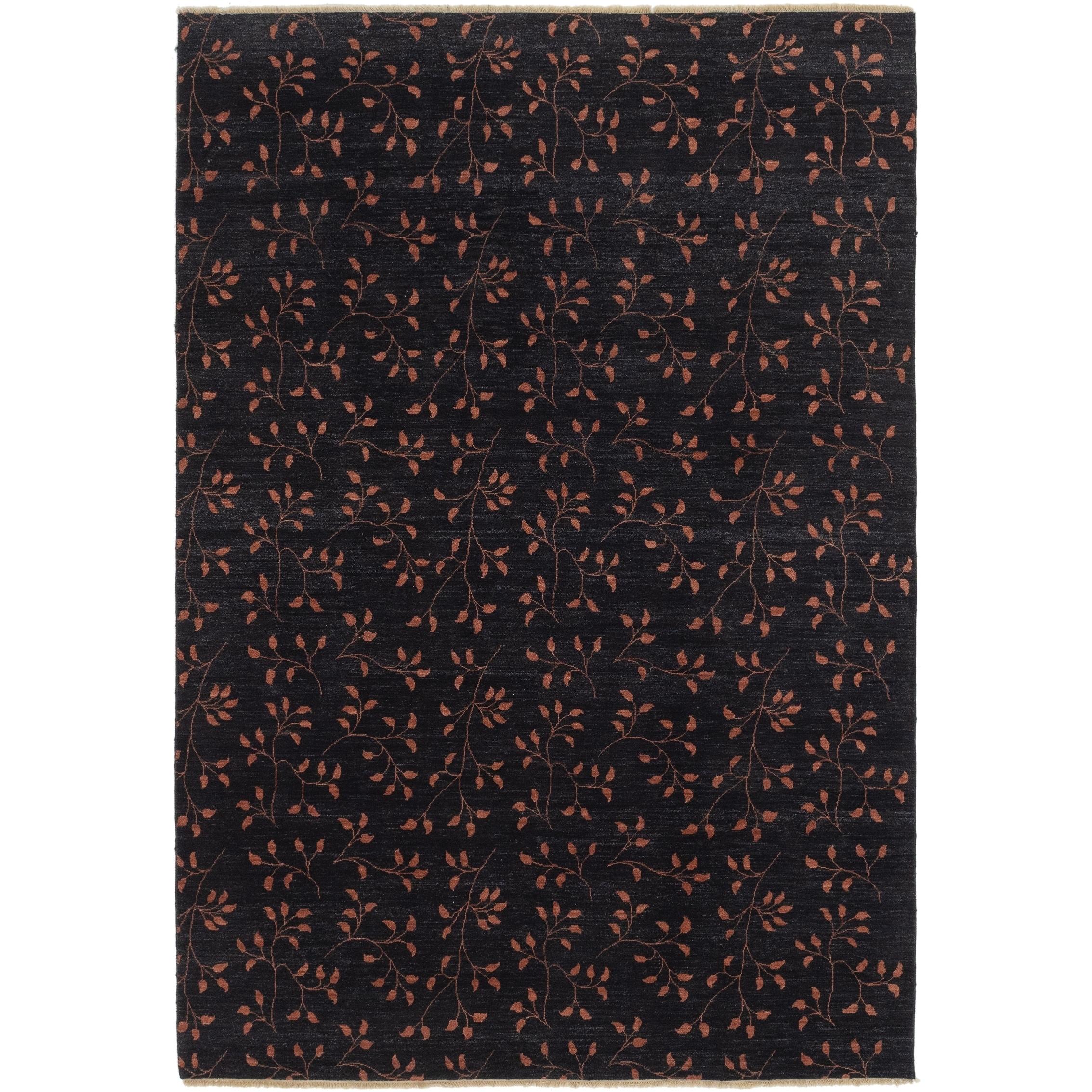 Hand Knotted Kashkuli Gabbeh Wool Area Rug - 6 8 x 9 9 (Black - 6 8 x 9 9)