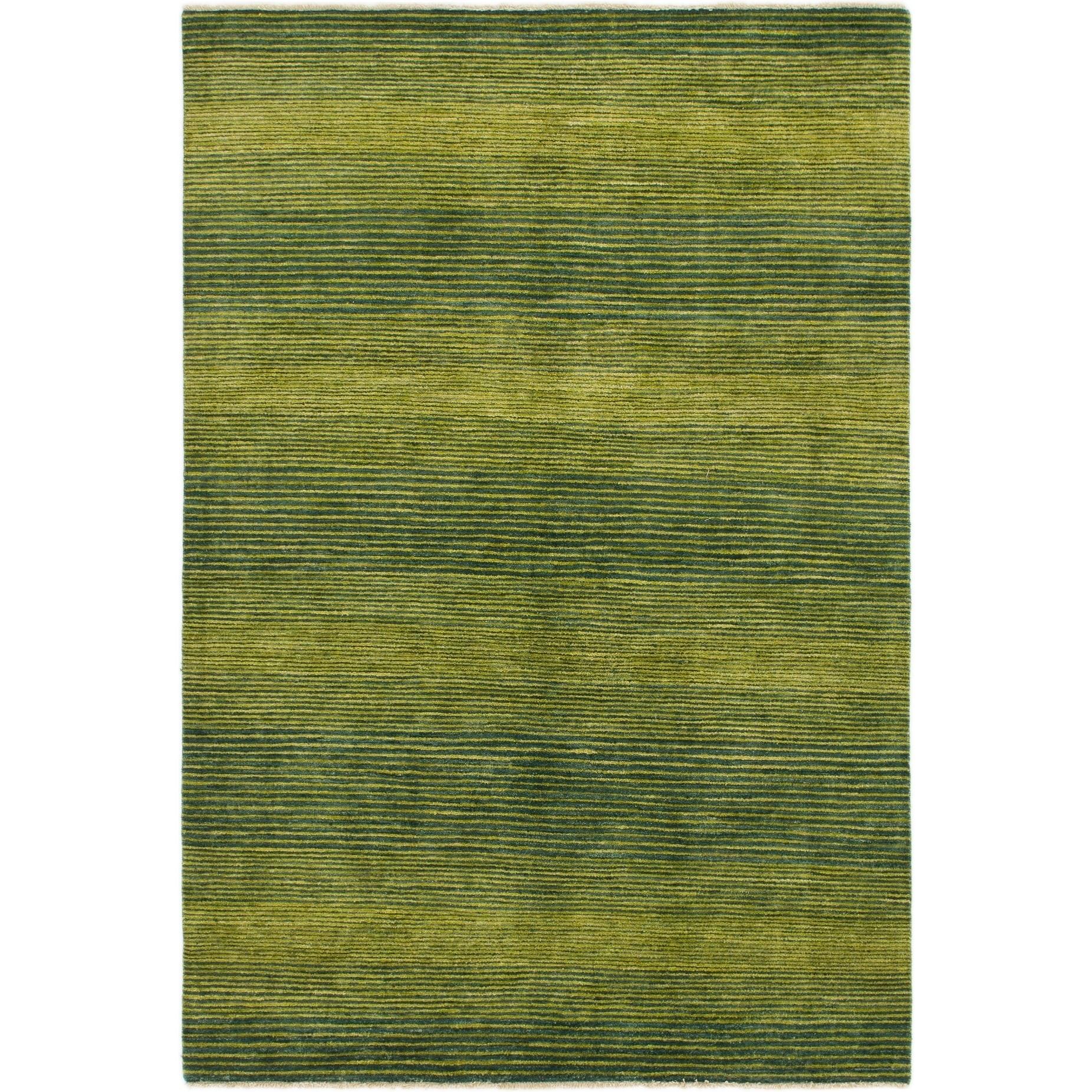 Hand Knotted Kashkuli Gabbeh Wool Area Rug - 5 6 x 8 2 (Hunter green - 5 6 x 8 2)