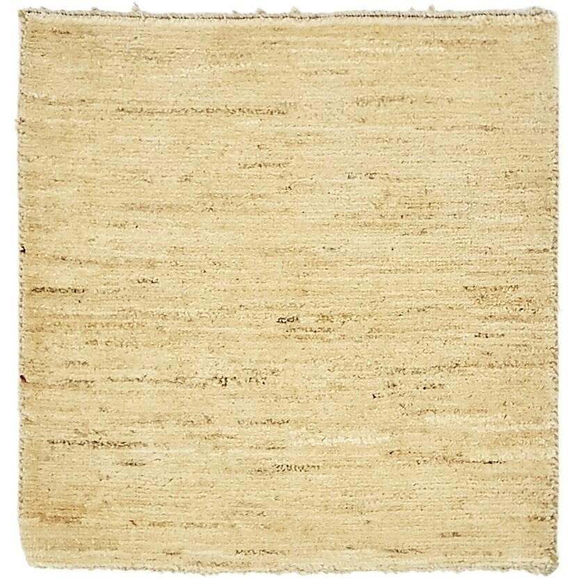 Hand Knotted Kashkuli Gabbeh Wool Square Rug - 2 3 x 2 4 (Beige - 2 3 x 2 4)