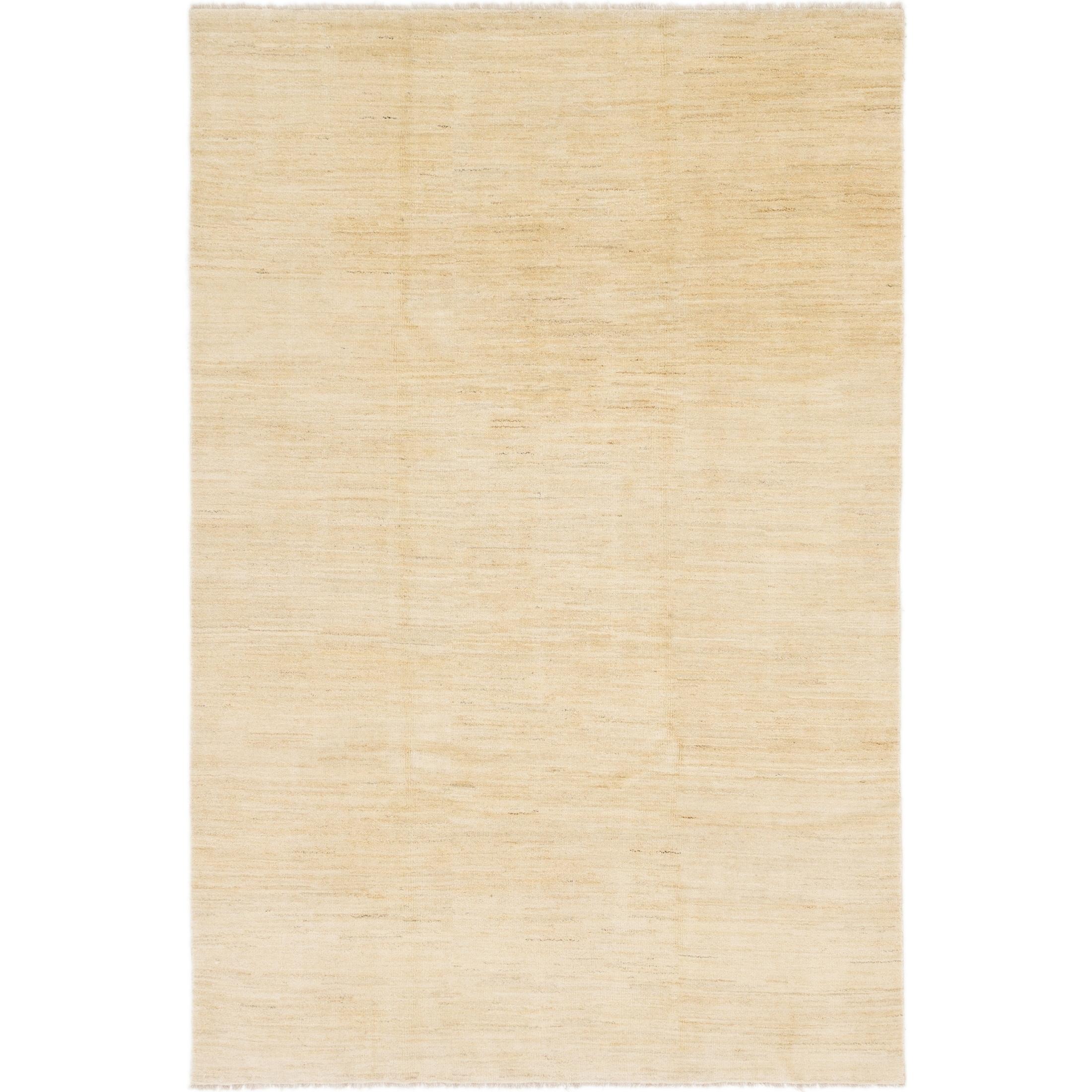 Hand Knotted Kashkuli Gabbeh Wool Area Rug - 6 7 x 9 10 (Beige - 6 7 x 9 10)