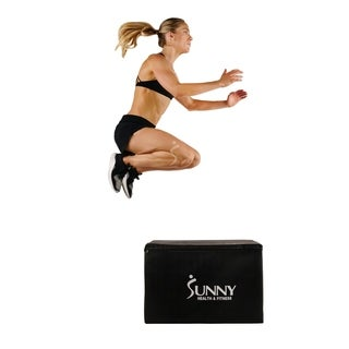 Sunny Health & Fitness Foam Plyo Box with 3 in 1 Height Adjustment, 440lb Weight Capacity