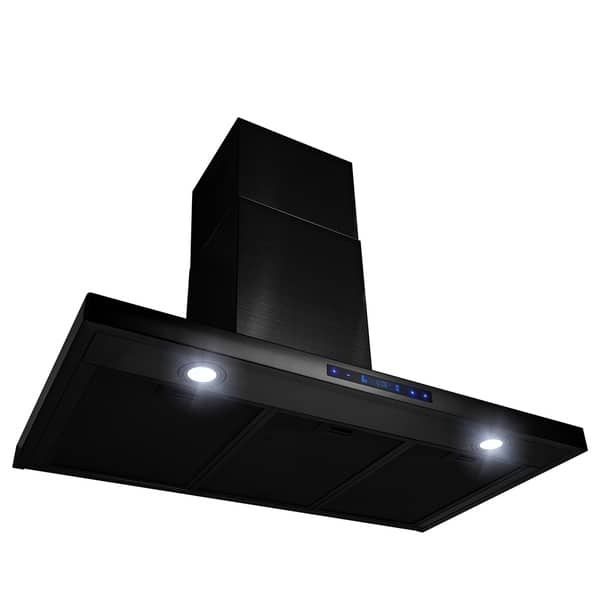 Shop Akdy 36 Wall Mount Brushed Black Stainless Steel Touch