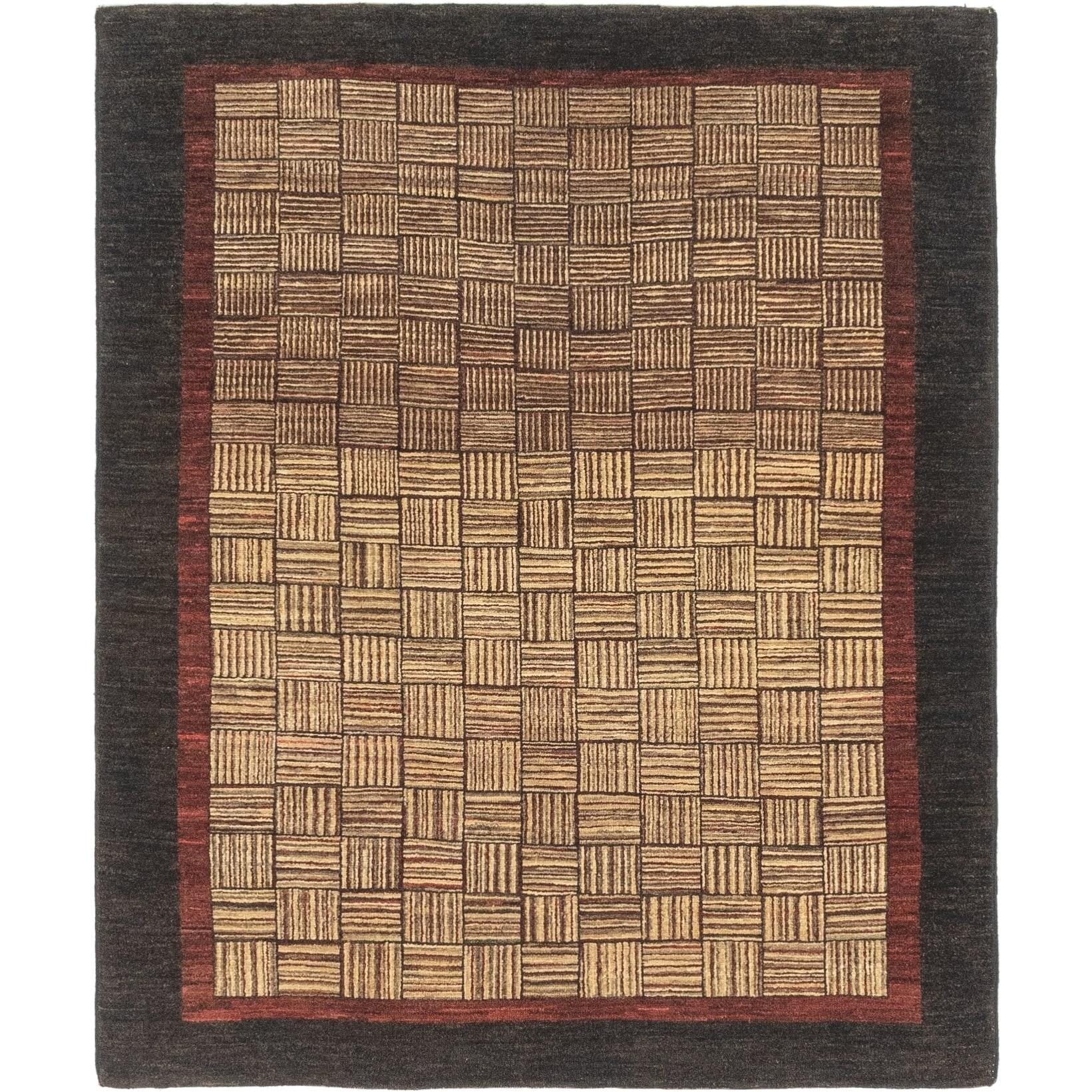 Hand Knotted Kashkuli Gabbeh Wool Area Rug - 4 9 x 5 10 (Multi - 4 9 x 5 10)