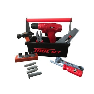 Durable Kids Tool Set with Electric cordless Drill – 15 Piece Set