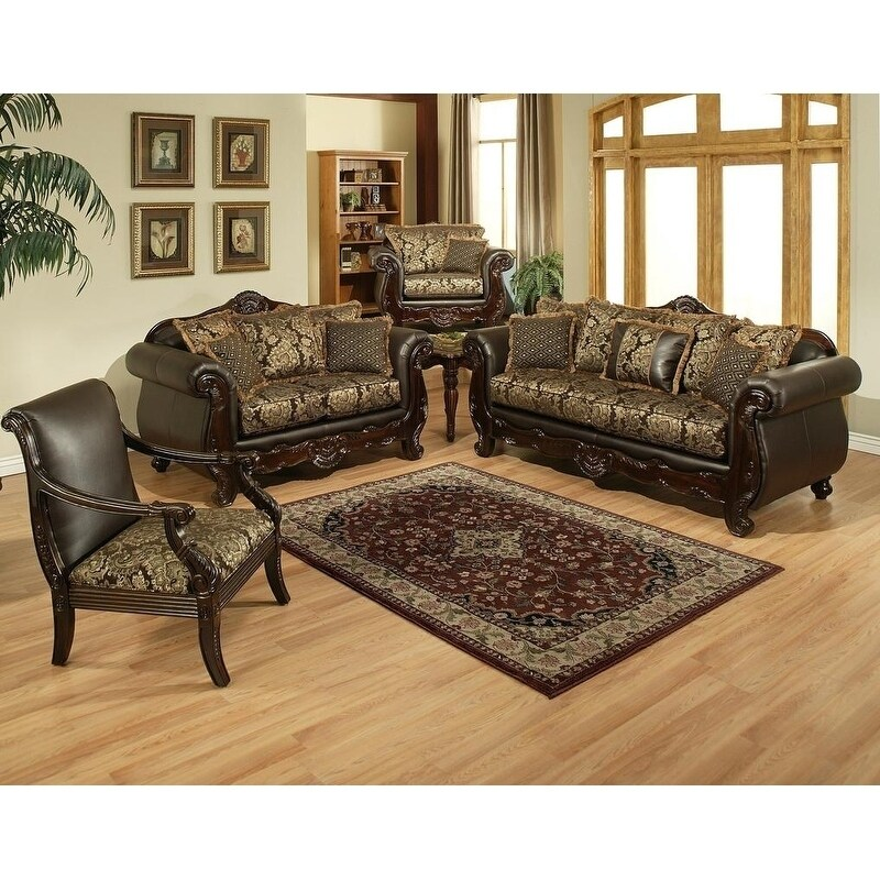 Orion 3 Piece Sofa Set With King Chair by Arely\'s Furniture Inc.