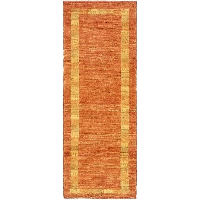 Hand Knotted Kashkuli Gabbeh Wool Runner Rug - 1 10 x 4 10 (Red - 1 10 x 4 10)