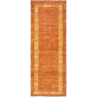 Hand Knotted Kashkuli Gabbeh Wool Runner Rug - 1' 10 x 4' 10