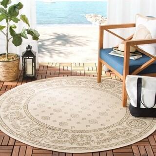 Safavieh Indoor/ Outdoor Beaches Natural/ Brown Rug (5'3 x 7'7)
