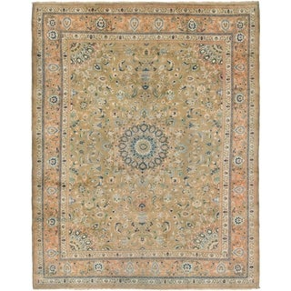 Hand Knotted Kashmar Semi Antique Wool Area Rug - 9' 7 x 12' 5