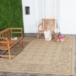 Safavieh Beaches Natural/ Brown Indoor/ Outdoor Rug - 7'10 x 11'