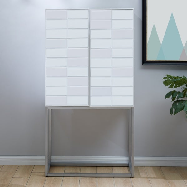 Harper Blvd Cyprii Tall White Bar Cabinet