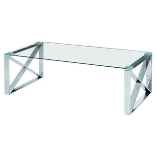 Best Quality Furniture Stainless Steel Glass Top Coffee Table