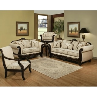Shop San Rozue Traditional Brown 2 Piece Sofa And Loveseat