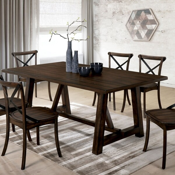 Furniture Of America Lee Modern Farmhouse Dining Table