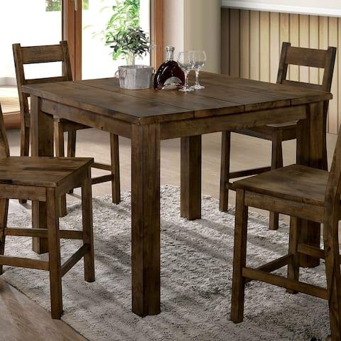 Carbon Loft Bourdain Rustic Counter Height Table