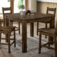 Furniture of America Oakhurst Rustic Counter Height Table - Oak