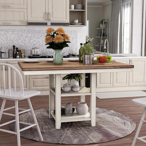 The Gray Barn Argus Hill Antique White Counter Height Dining Table