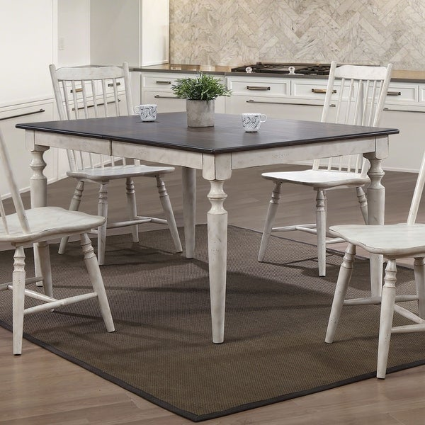 Shop Furniture of America Darion Rustic Antique White Dining Table ... d72a8e68122a