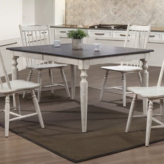 The Gray Barn Riverbone Rustic Antique White Dining Table