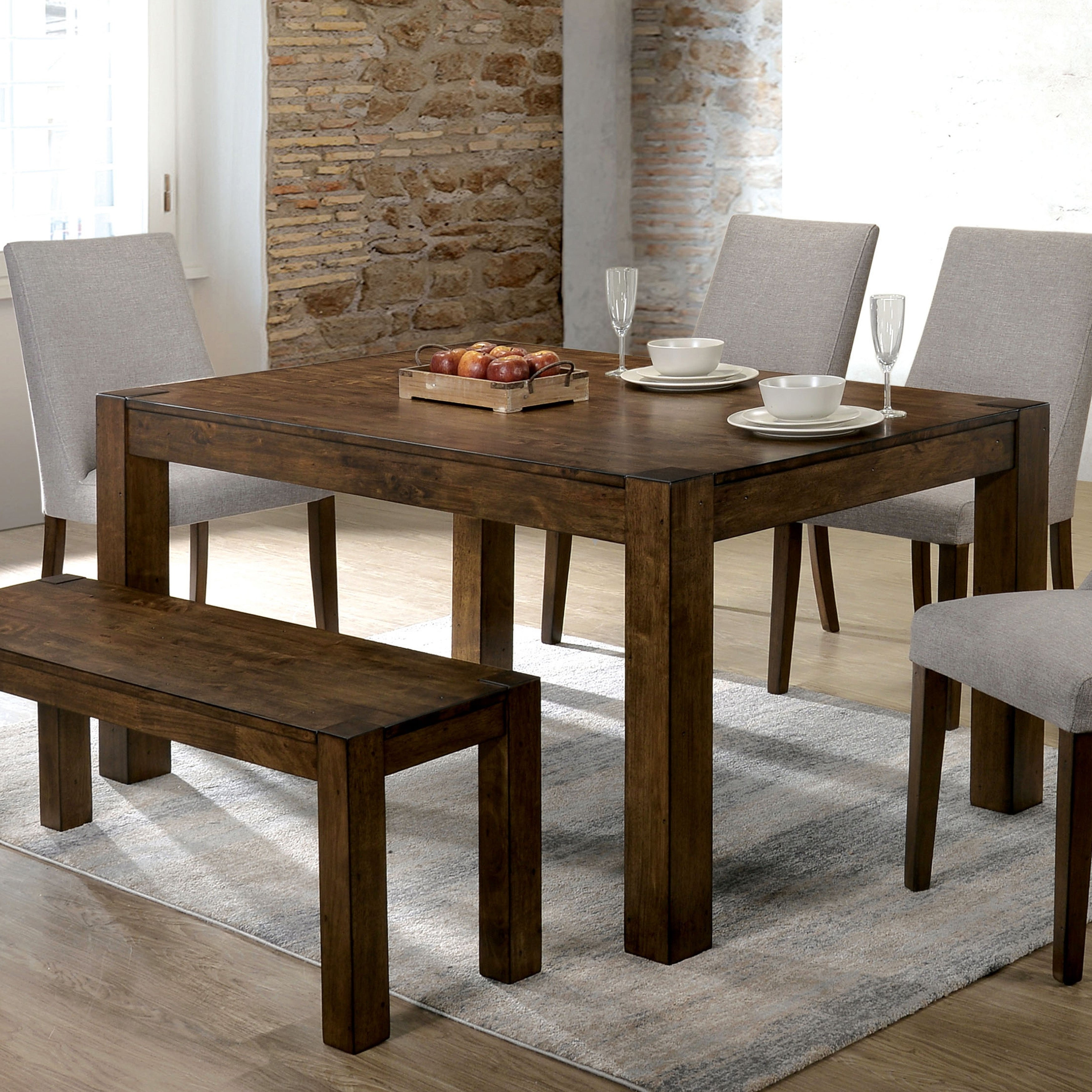 Carbon Loft Lawless Rustic Walnut 66 Inch Dining Table