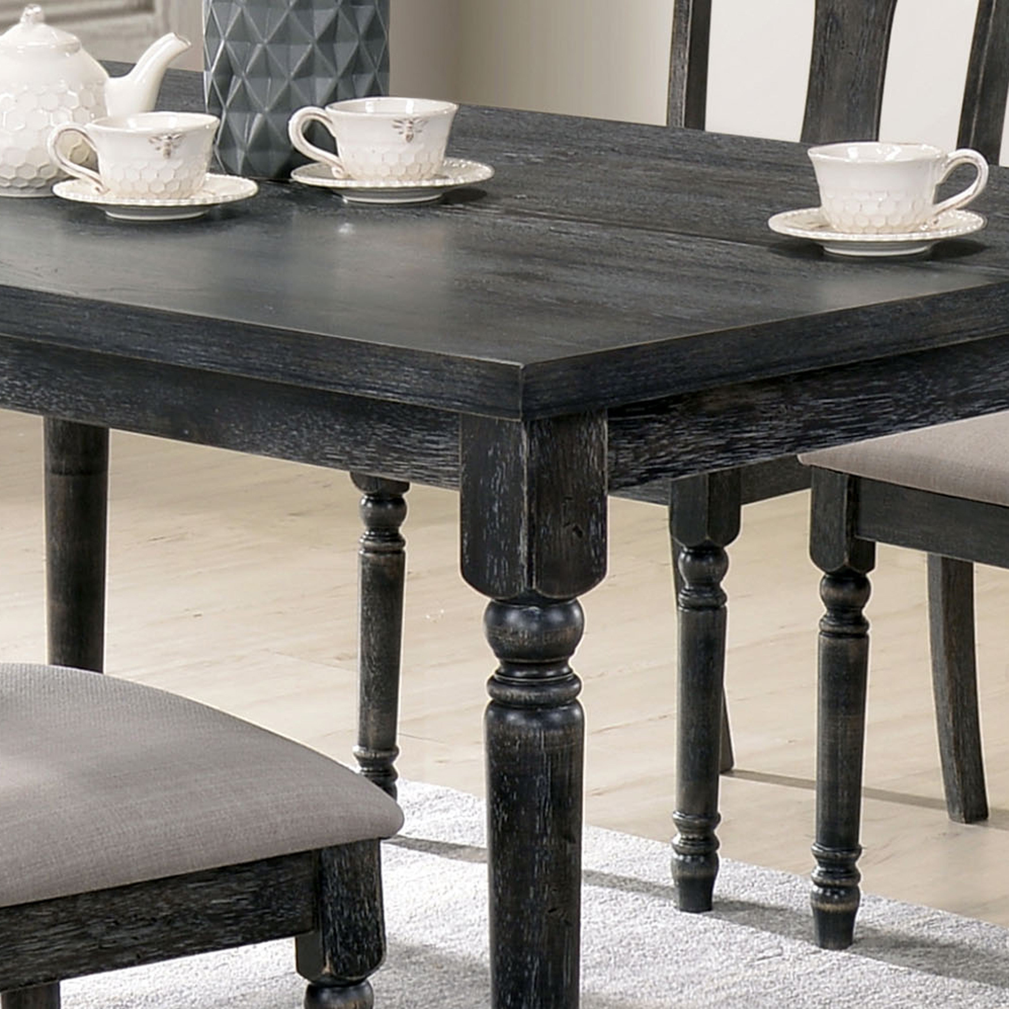 Super Carbon Loft Schneider Rustic Grey 59 Inch Dining Table Lamtechconsult Wood Chair Design Ideas Lamtechconsultcom