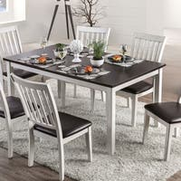 The Gray Barn Doolittle Farmhouse Espresso and White Dining Table