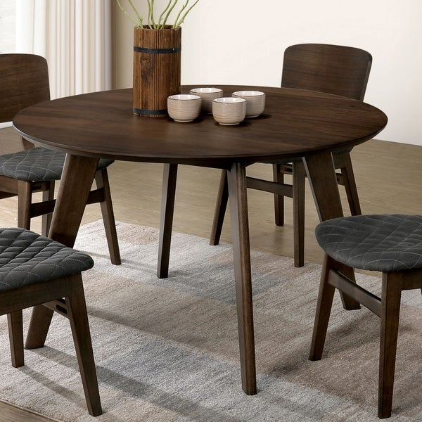 Mid Century Round Dining Rooms: Shop Furniture Of America Liam Mid-century Modern Round