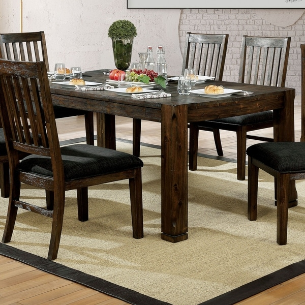 72 inch dining table entryway furniture of america marquez rustic 72inch dining table walnut shop