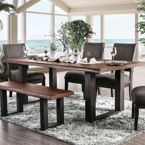 Strick & Bolton Calaway Industrial Espresso Dining Table