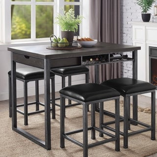 Carbon Loft Mezzo Counter Height Dining Table with Storage