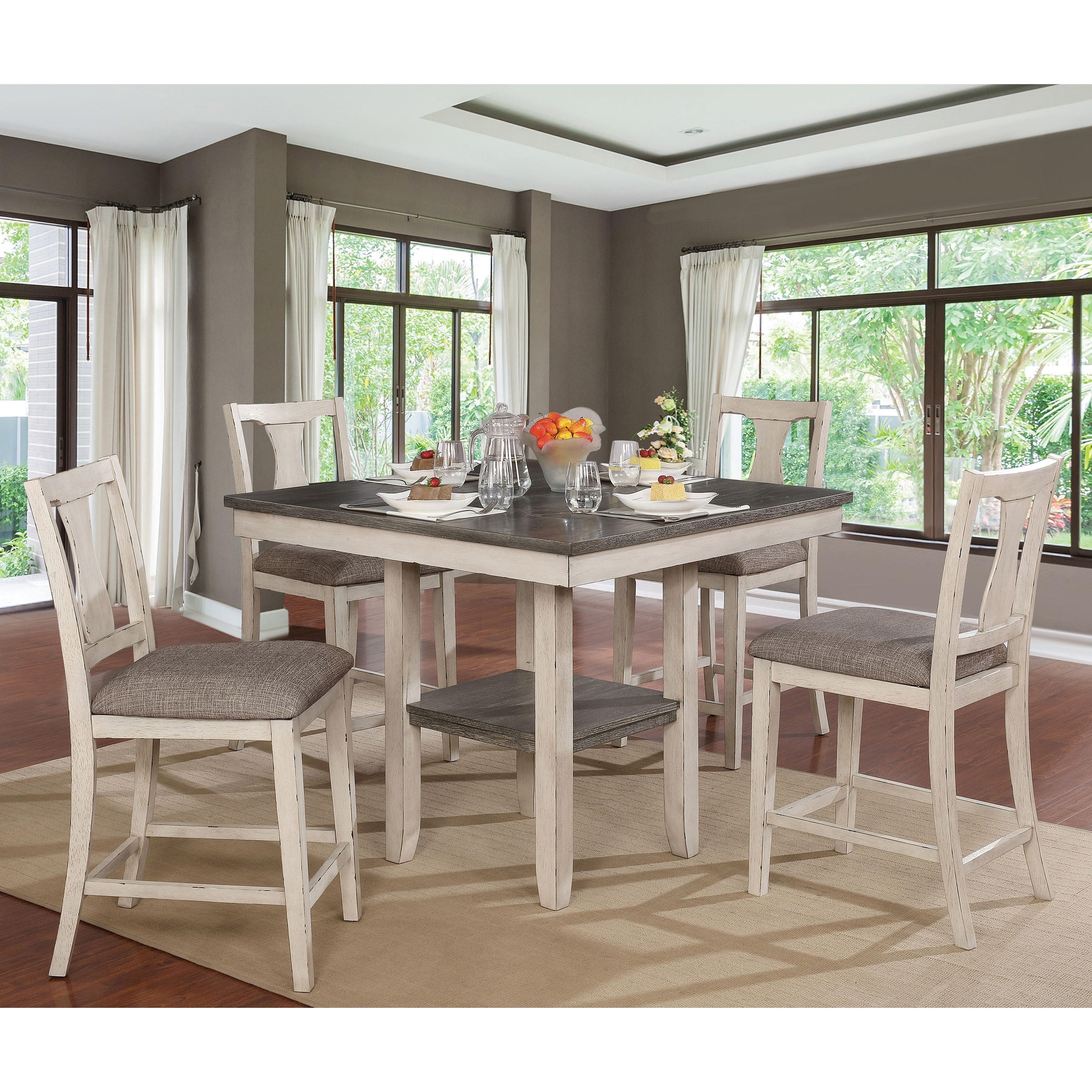 Copper Grove Merichleri Rustic 5-piece Counter Height Dining Set