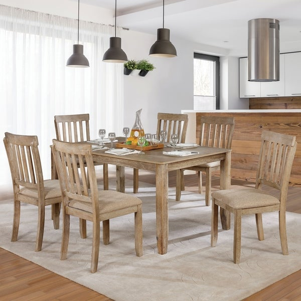 The Gray Barn Summerside Rustic Farmhouse 7-piece Dining Set. Opens flyout.