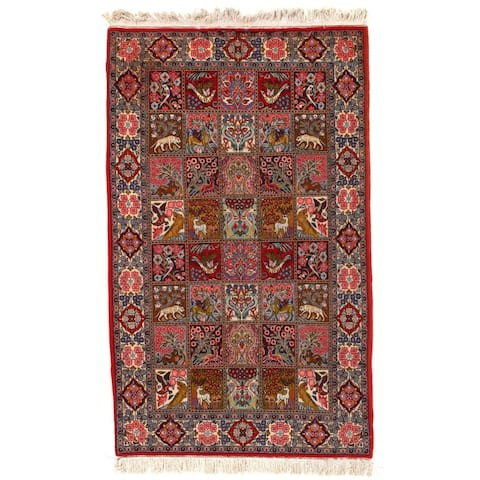 """Pasargad DC Hand Knotted Persian Rug - 4'4"""" X 7'"""