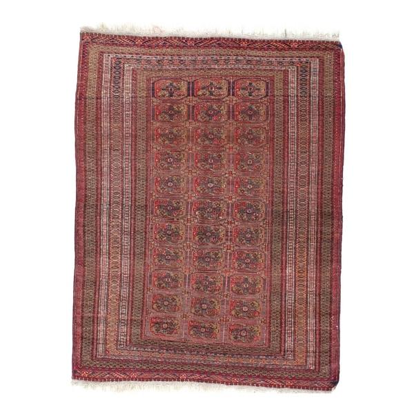 Antique Afghan Rugs: Shop Pasargad DC Antique Afghan Tekkeh Rug