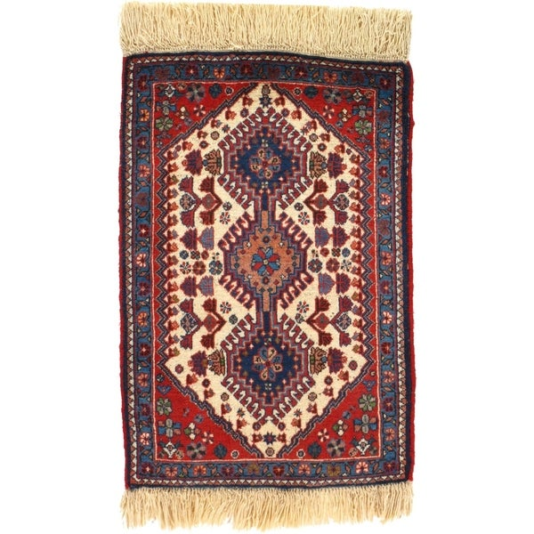 "Pasargad DC Hand-Knotted Persian Tribal Rug - 1'10"" X 2'11"""