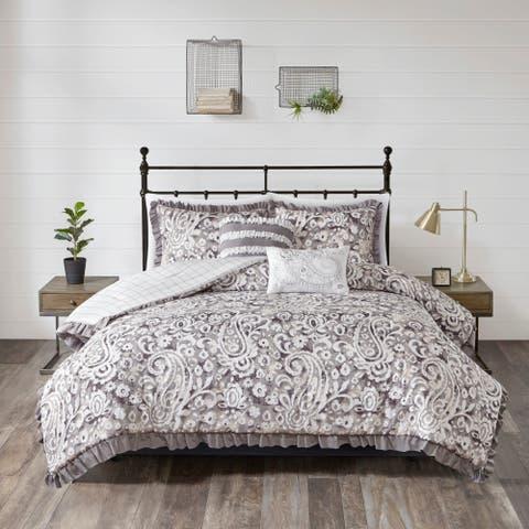 510 Design Bessie Gray 5 Piece Reversible Comforter Set
