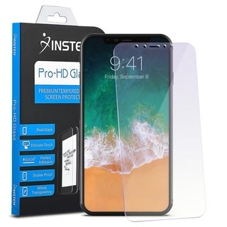 INSTEN Anti Blue Ray Tempered Glass Screen Protector for Apple iPhone X/ iPhone XS
