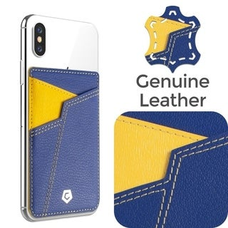 Cobble Pro Basketball Teams Stick-On Genuine Leather Card Holder for Smartphones/ Apple iPhone XS Max/ X/ XR/ Samsung Note 9