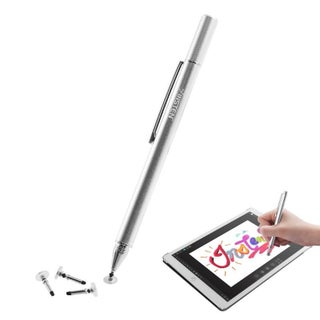 INSTEN Universal Ultra-Smooth Disc Tip Touchscreen Stylus Pen with 3 Extra Replacement Tips