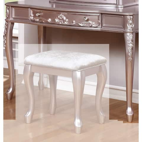 Decorative Wooden Vanity Desk with Cabriole Legs, Purple