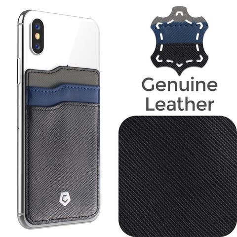 Cobble Pro Genuine Leather Stick-On Card Holder for Universal Smartphones/ Apple iPhone XS Max/ X/ XR/ Samsung Note 9