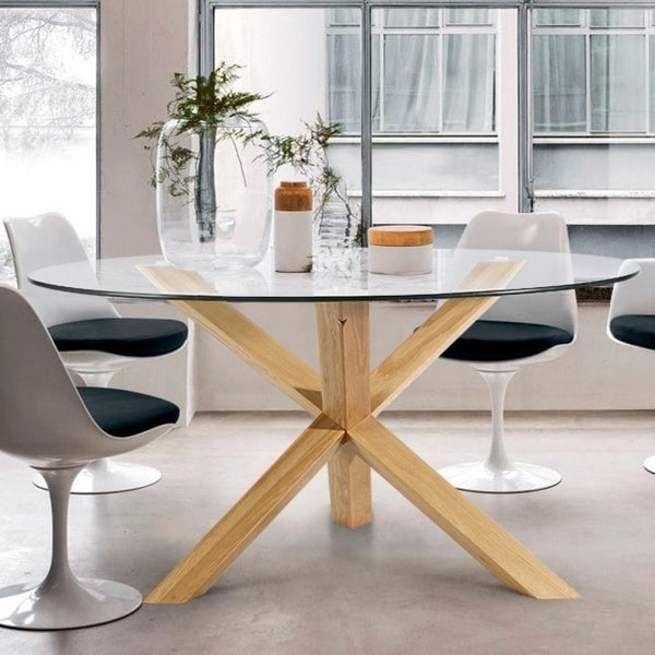 Poly and Bark Kennedy 48 inch Round Dining Table. Opens flyout.