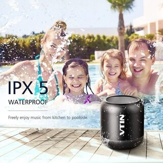 Bluetooth Speakers with IPX5 Water-Resistant, Rich Bass and 360° Stereo Sound