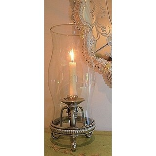 Hanging Hurricane Lamp Satin Nickel