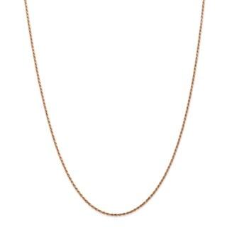 Versil 14 Karat Rose Gold 1.5mm Diamond-cut Rope Chain