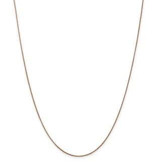 Versil 14 Karat Rose Gold 0 8mm Baby Spiga Wheat Chain