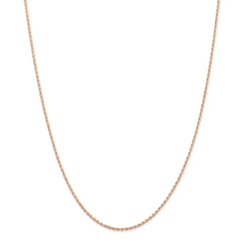 Versil 14 Karat Rose Gold 1.5mm Diamond-cut Rope Chain